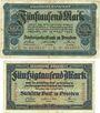 Banknotes Dresden. Sächsische Bank. Billets. 5000 mk 12.3.1923, 50000 mk 25.7.1923