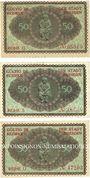Banknotes Dresden. Stadt. Billets. 50 pf fév 1921, séries (Reihen) : Q, S, U