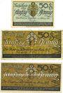Banknotes Dresden. Stadt. Billets. 50 pf mars 1917-31.10.1917, 50 mars 1917-31.12.1919, 50 pf 1921