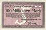 Banknotes Duisburg. Deutsche Maschinenfabrik A.-G.. Billet. 100 millions mark n. d.