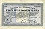Banknotes Duisburg. Deutsche Maschinenfabrik A.-G.. Billet. 2 millions mk 9.8.1923