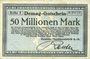 Banknotes Duisburg. Deutsche Maschinenfabrik A.-G.. Billet. 50 millions mark n. d.