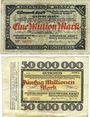 Banknotes Duisburg-Hochfeld. Eisenwerk Kraft Abt. Niederrheinische Hütte Billets. 1, 50 millions mk