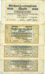 Banknotes Duisburg. Stadt. Billets. 100000 mark 20.7.1923 ; 100000 mark 30.7.1923 (3ex)