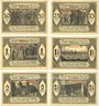 Banknotes Dülmen. Stadt. Billets. 50, 75 pf, 1,  1 1/2, 2, 2 1/2 mark 1.12.1921