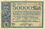 Banknotes Düren. Euskirchen, Jülich, Stolberg, Eschweiller, ..., Billet. 50 000 mk 15.02.1923