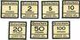 Banknotes Düren. Konsum- und Sparverein. Billets. 1, 2, 5, 10, 20, 50, 100 pf (1916)