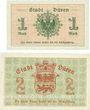 Banknotes Düren. Stadt. Billets. 1 mark, 2 mark 20.11.1918