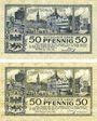 Banknotes Düren. Stadt. Billets. 50 pf 1.3.1918 (2 ex)