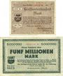 Banknotes Düren. Stadt. Billets. 500 000, 5 millions de mark 8.8.1923