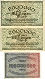 Banknotes Düsseldorf. Arbeitgeber-Vereinigung. Billets. 2 millions mk série G & R, 100 millions mk
