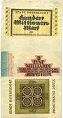 Banknotes Düsseldorf. Billets. 50, 100, 500 millions, 1, 10 milliards 1923
