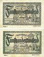 Banknotes Düsseldorf. Billets. 500000 mk série (Reihe) 4 et 6 du 1.8.1923