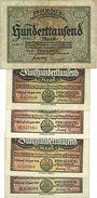 Banknotes Düsseldorf. Phoenix. Billet. 100000 mk 15.7.1923, 500000 mk 1.8.1923 (4ex)