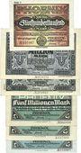 Banknotes Düsseldorf. Phoenix. Billet. 500000, 1 million, 5 millions (3ex) 1923