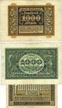 Banknotes Düsseldorf. Stadt. Billets. 1000 mk 30.9.1922, 1000 mk 1.11.1922, 5000 mk 1.2.1923