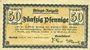 Banknotes Eberbach. Stadt. Billet. 50 pf 1.9.1918