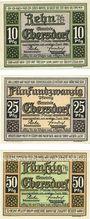 Banknotes Ebersdorf. Gemeinde. Billets. 10 pf, 25 pf, 50 pf 1.7.1921