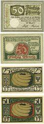 Banknotes Eberswalde. Stadt. Billets. 50 pf 11.11.1918, 14.11.1919, 25, 50 pf 1.7.1921