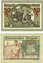 Banknotes Eberswalde. Stadt. Billets. 50 pf 11.11.1918, 50 pf 14.11.1919