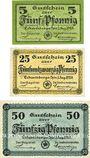 Banknotes Eckartsberga. Stadt. Billets. 5, 25, 50 pf 1.8.1920