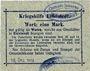 Banknotes Eidelstedt. Kriegshilfe Eidelstedt. Billet. 1 mark 16.12.1914, au dos : J. Kröger