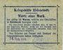 Banknotes Eidelstedt. Kriegshilfe Eidelstedt. Billet. 1 mark 16.2.1915, au dos : Heinrich Schwarz