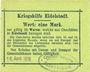 Banknotes Eidelstedt. Kriegshilfe Eidelstedt. Billet. 1 mark 16.4.1915, au dos : Gustav Peters