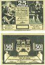 Banknotes Einbeck. Stadt. Billets. 25, 50 pf 20.12.1920, impression matte