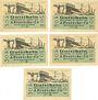 Banknotes Einswarden. Frerichswerft. Série de 5 billets. 50 pf janvier 1921