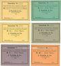 Banknotes Einswarden. Frerichswerft. Série de 6 billets. sans valeur, 1, 2, 3, 5, 10 mk 1914