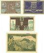 Banknotes Eisenach. Stadt. Billets. 5 mk, 10 mk, 20 mk, 50 mk 24.10.1918, cachet Ungültig au dos