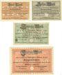 Banknotes Eisenach. Stadt. Billets. 5 mk, 10 mk, 20 mk, 50 mk 24.10.1918