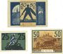 Banknotes Eisenach. Stadt. Billets. 50 pf 24.10.1918 ; 25, 50 pf 20.11.1919
