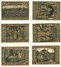 Banknotes Eisenach. Stadt. Série de 6 billets. 50 pfennig 1921