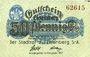 Banknotes Eisenberg. Stadt. Billet. 50 pf 1917 - 31.12.1919