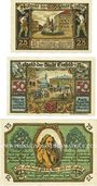 Banknotes Eisfeld. Stadt. Billets. 25 pf, 50 pf, 75 pf août 1921