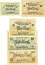 Banknotes Eisleben. Mansfeld a. G.. Billets. 1, 2, 5, 10, 20 mark n. d. - 31.5.1919