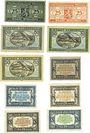 Banknotes Elberfeld. Stadt. 25 pf (2ex) 15.11.1919, 50 pf (3ex) 10.12.1919, 5 pf (3ex), 10 pf (2ex)