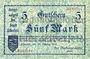 Banknotes Elberfeld. Stadt. Billet. 5 mark 25.10.1918