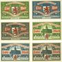 Banknotes Elberfeld. Stadt. Billets. 1 mark (3ex), 2 mark (3ex) 1.10.1920