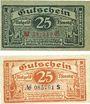 Banknotes Elberfeld. Stadt. Billets. 25 pf (2ex) 15.11.1919