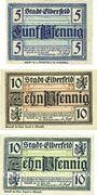Banknotes Elberfeld. Stadt. Billets. 5 pf, 10 pf (2ex) 10.3.1920