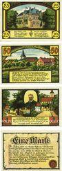 Banknotes Eldagsen. Stadt. Billets. 25, 50 pf, 1 mark (2ex) 1.6.1921