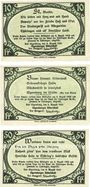 Banknotes Elgersburg, Bad. Elgersburger Ritterschaft. Billets. 10, 25, 50 pf 8.8.1921