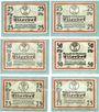 Banknotes Ellerbek. Gemeinde. Billets. 25 pf (2ex), 50 pf (2ex), 75 pf (2ex) (1921)