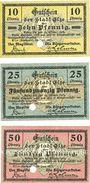 Banknotes Elze. Stadt. Billets. 10, 25, 50 pf juin 1917