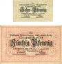 Banknotes Emmendingen. Stadt. Billets. 10 pf, 50 pf 1.8.1917