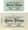 Banknotes Emmendingen. Stadt. Billets. 20 pf, 50 pf 1.8.1917