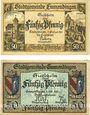 Banknotes Emmendingen. Stadt. Billets. 50 pf 11.2.1921, 50 pf 1.10.1921